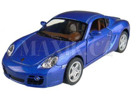 Kinsmart Auto Porsche Cayman S na zpětné natažení 13cm - Modrá