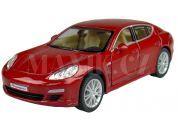 Kinsmart Auto Porsche Panamera S na zpětné natažení 12,5cm - Červená