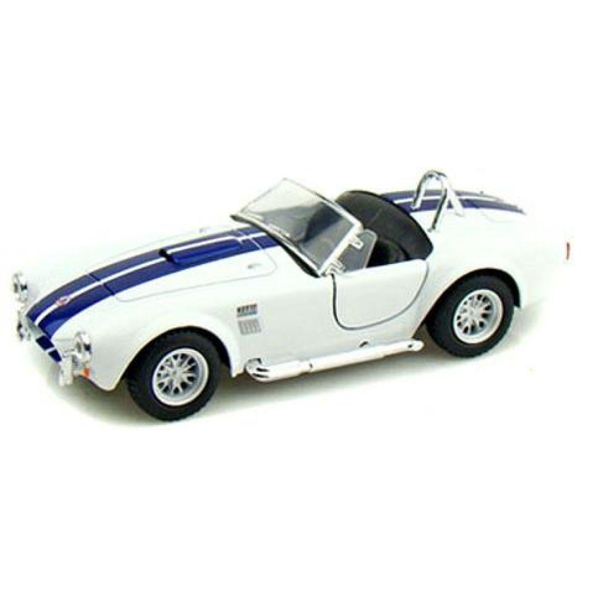 Kinsmart Auto Shelby Cobra 1965 na zpětné natažení 13cm - Bílá