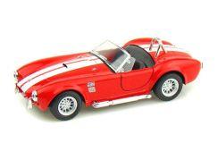 Kinsmart Auto Shelby Cobra 1965 na zpětné natažení 13cm - Červená