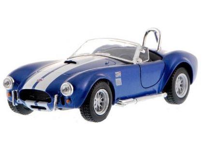 Kinsmart Auto Shelby Cobra 1965 na zpětné natažení 13cm - Modrá