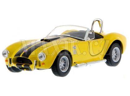 Kinsmart Auto Shelby Cobra 1965 na zpětné natažení 13cm - Žlutá
