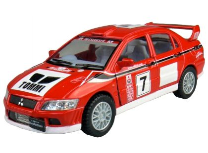 Kinsmart Auto Sportovní na zpětné natažení 12,5cm - Mitsubishi Lancer Evolution