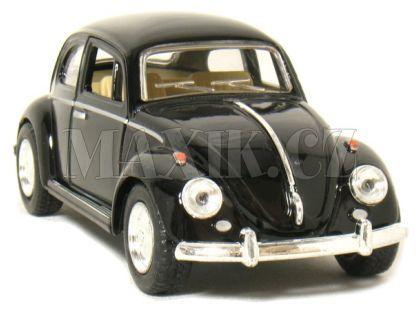 Kinsmart Auto Volkswagen Beetle na zpětné natažení 13cm - Černá