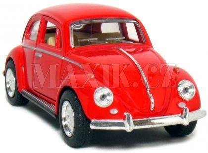 Kinsmart Auto Volkswagen Beetle na zpětné natažení 13cm - Červená
