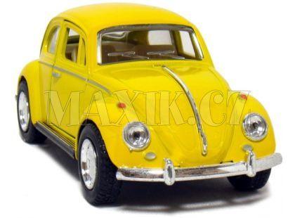 Kinsmart Auto Volkswagen Beetle na zpětné natažení 13cm - Žlutá