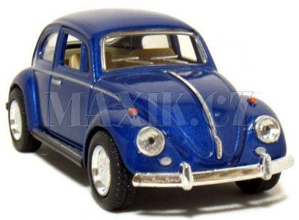 Kinsmart Auto Volkswagen Beetle na zpětné natažení 13cm - Modrá
