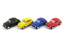 Kinsmart Auto VW Classical Beetle kov 13 cm na zpětné natažení