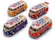 Kinsmart Autobus VW Peace and love na zpětné natažení