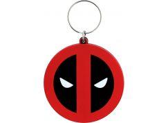 Klíčenka gumová Deadpool logo