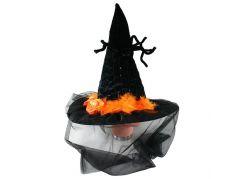 Klobouk Halloween se závojem a pavoukem