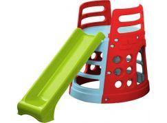 Klouzačka s věží a prolézačkou - Zelená skluzavka