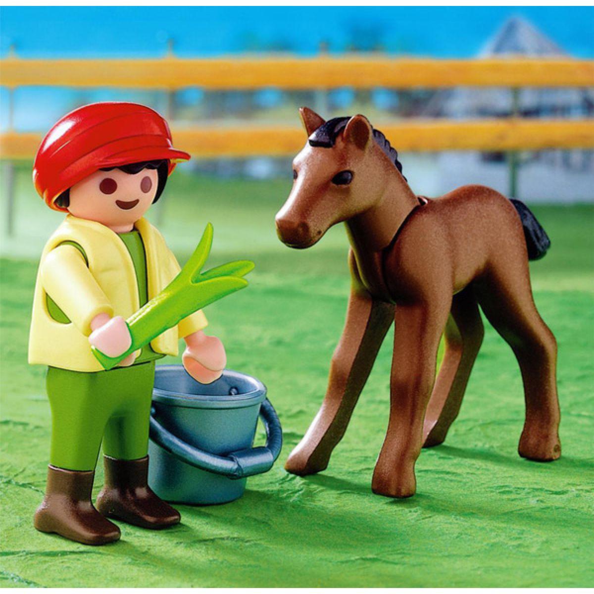 Kluk s hříbětem Playmobil
