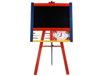 Kobelár Tabule stojanová s počítadlem a hodinami barevná 100cm