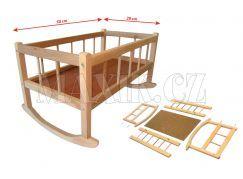 Kolébka dřevěná velká 50x28cm