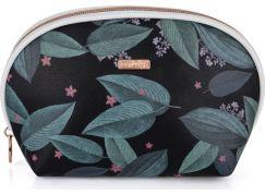 Kosmetická taška kulatá Dark leaves