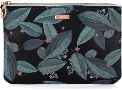 Kosmetická taška plochá Dark leaves