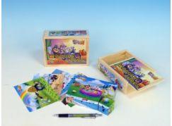 Kostky dřevěné Looney Tunes 12 ks