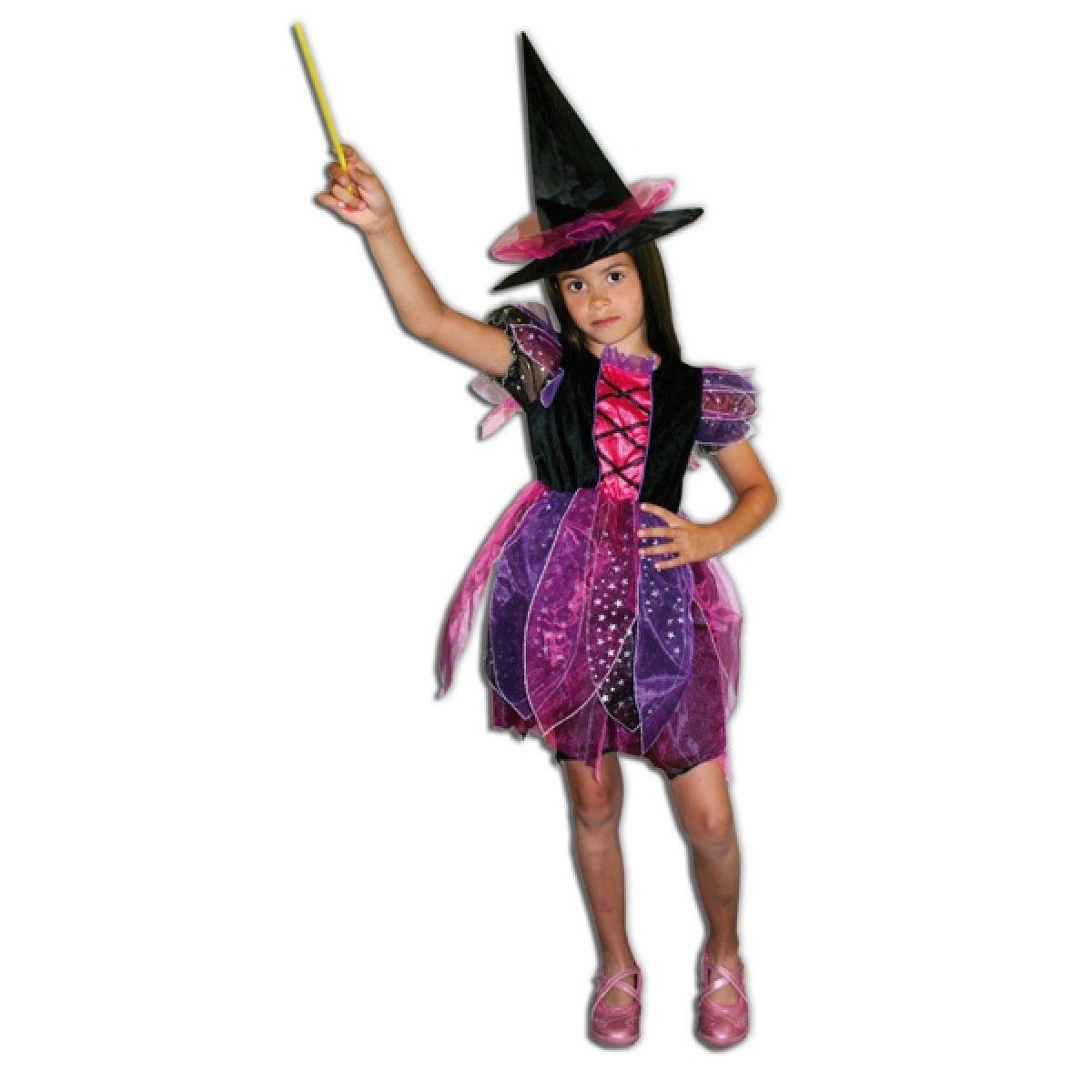Kostým Čarodějka barevná