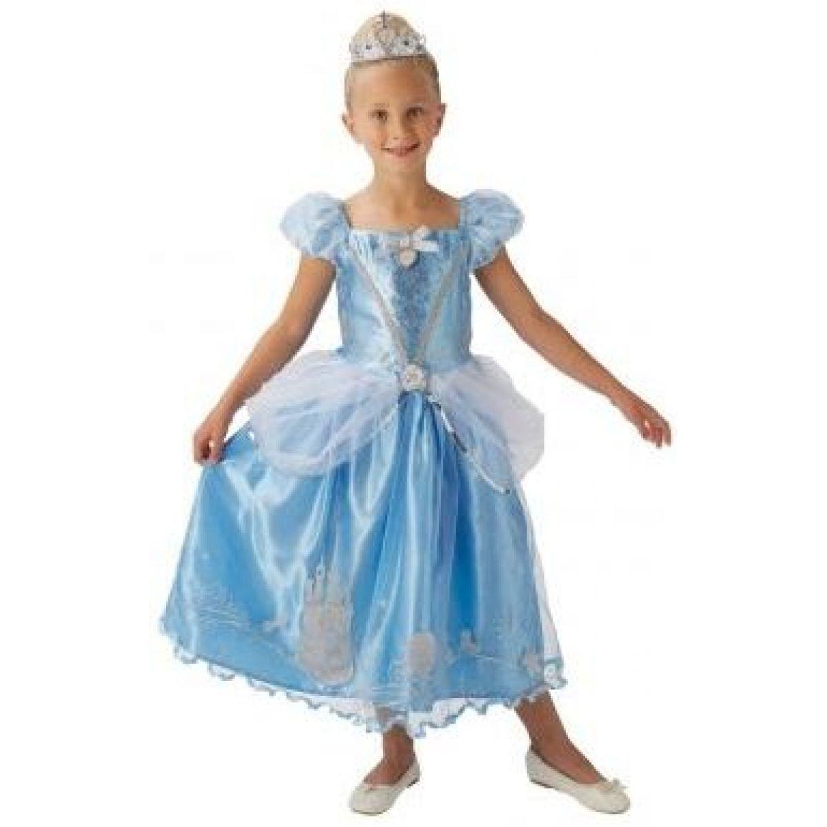 Kostým  Disney Popelka s třpytivými  ozdobami a korunkou velikost M