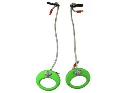 Kruhy na zavěšení - Zelená