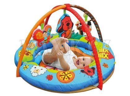 K's Kids Kulatá aréna s polštáři, hrazdičkou a závěsnými hračkami