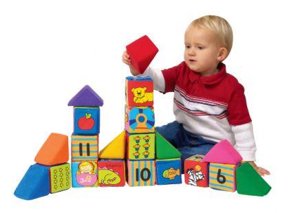 K's Kids Sada veselých látkových kostek a trojúhelníků