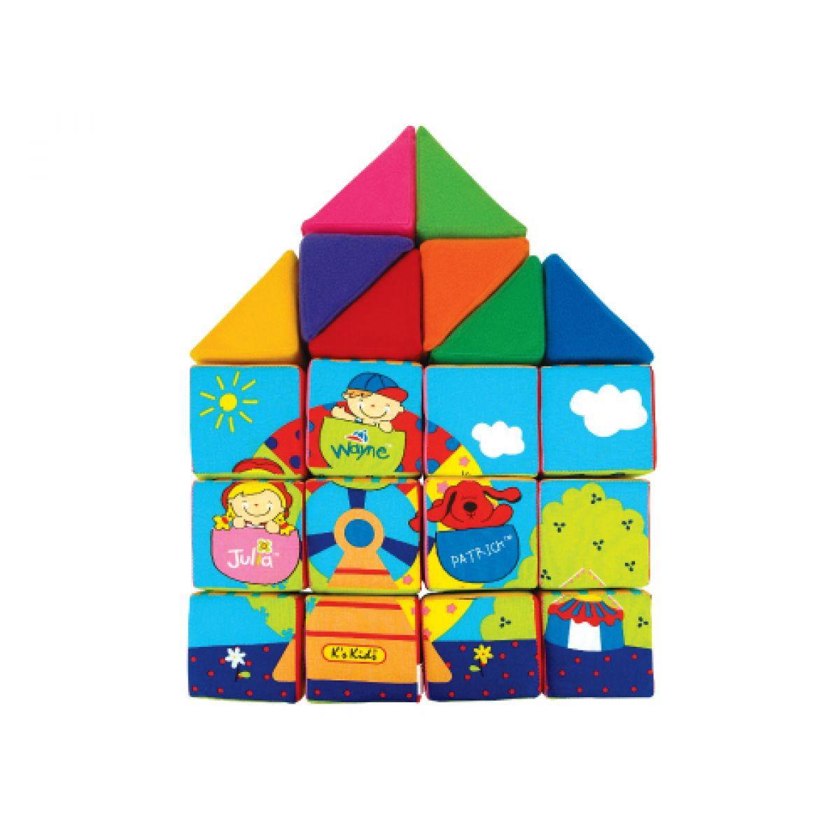 K's Kids Sada veselých látkových kostek a trojúhelníků #2