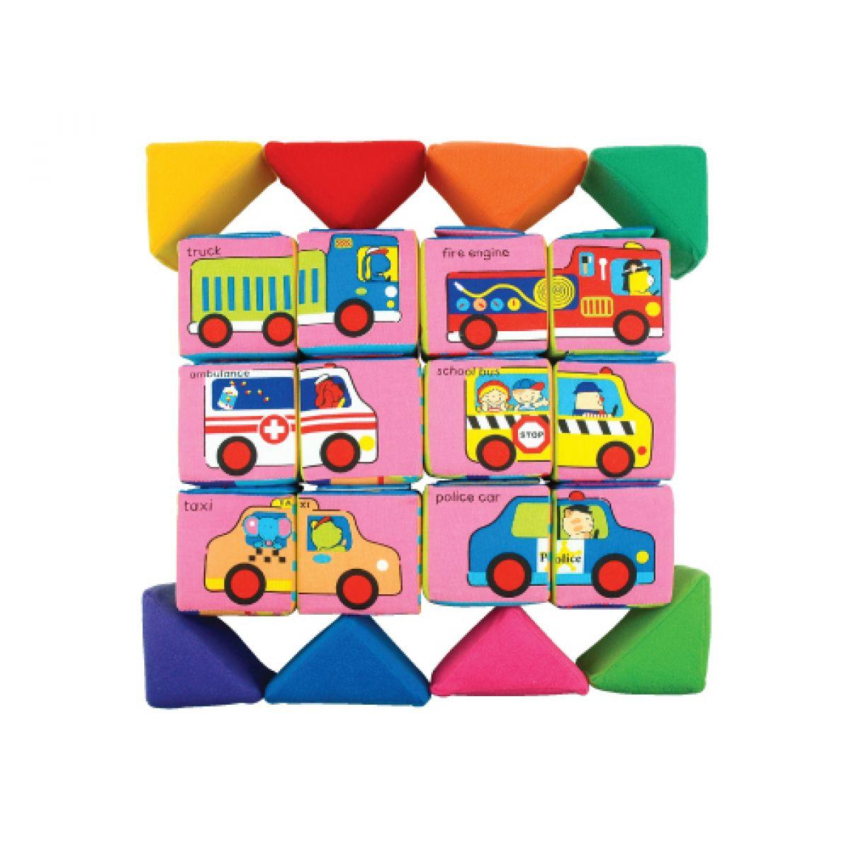 K's Kids Sada veselých látkových kostek a trojúhelníků #3