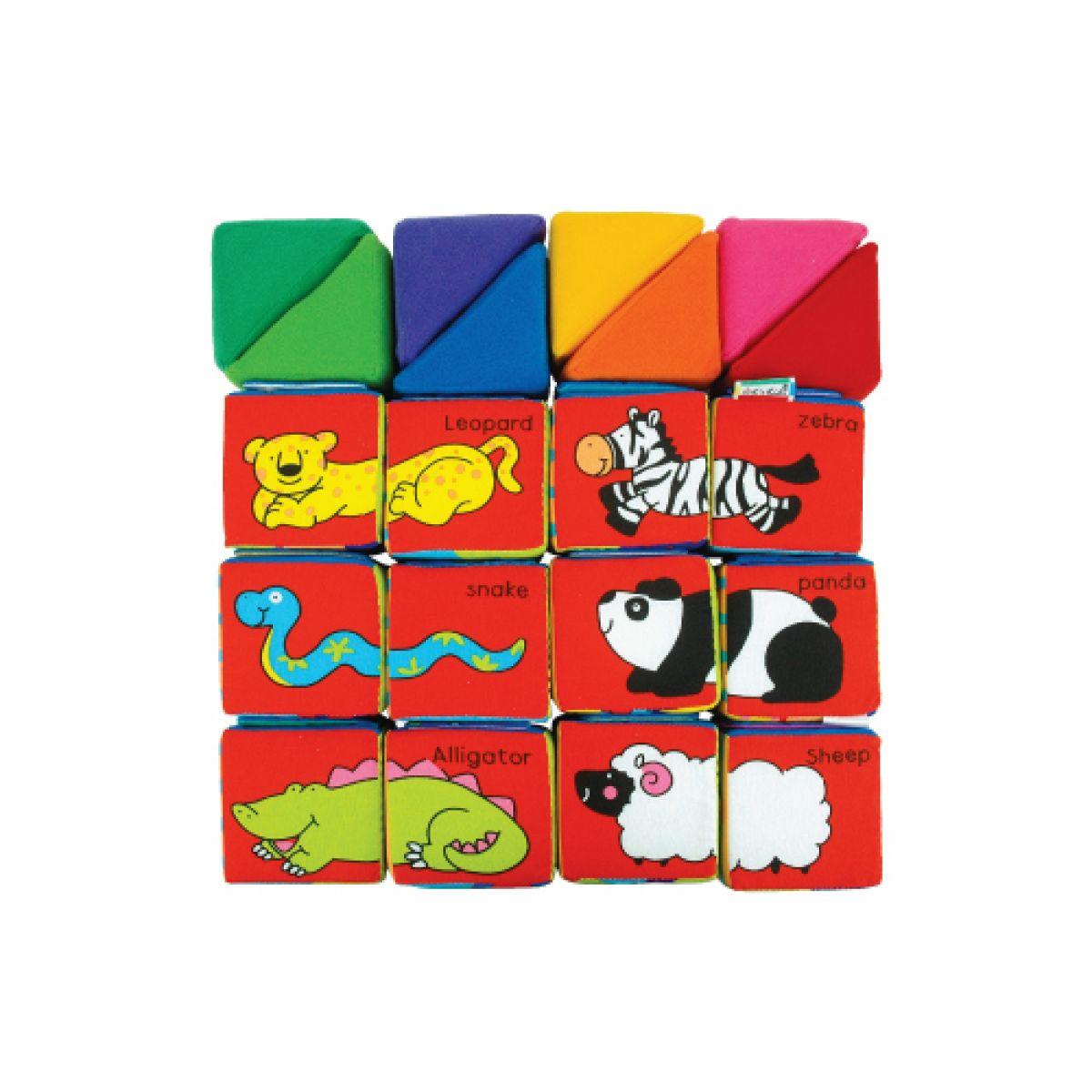 K's Kids Sada veselých látkových kostek a trojúhelníků #5