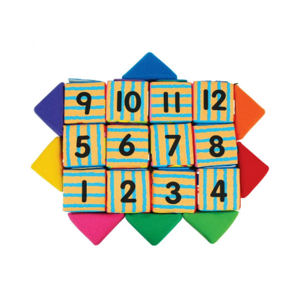 K's Kids Sada veselých látkových kostek a trojúhelníků #6
