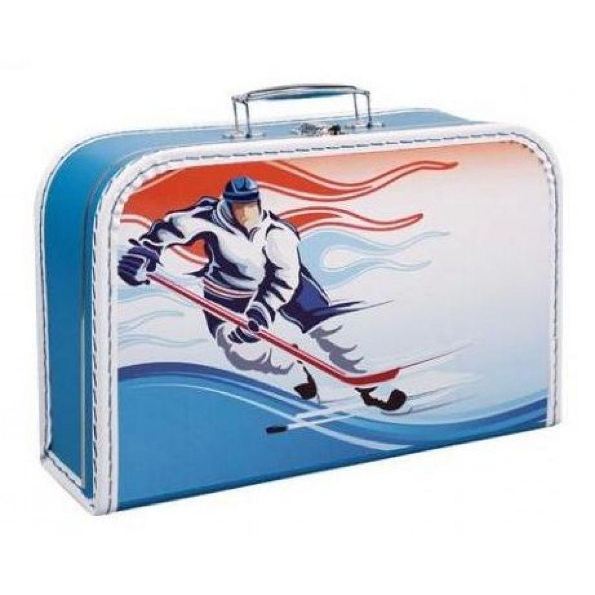 Kufřík hokejista, modrý 35 cm
