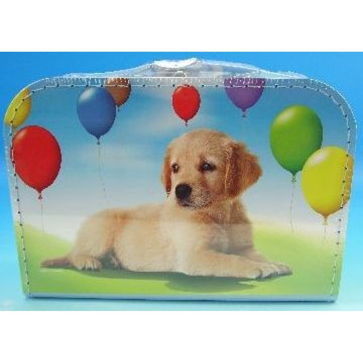 Kufřík pes s balónky 35 cm