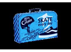 Kufřík Skate modro černý 35 cm