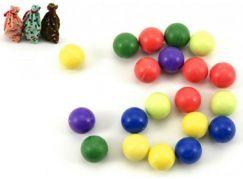 Kuličky cvrnkací nerozbitné barevné 20ks 1,5cm