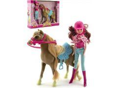 Kůň s panenkou žokejkou