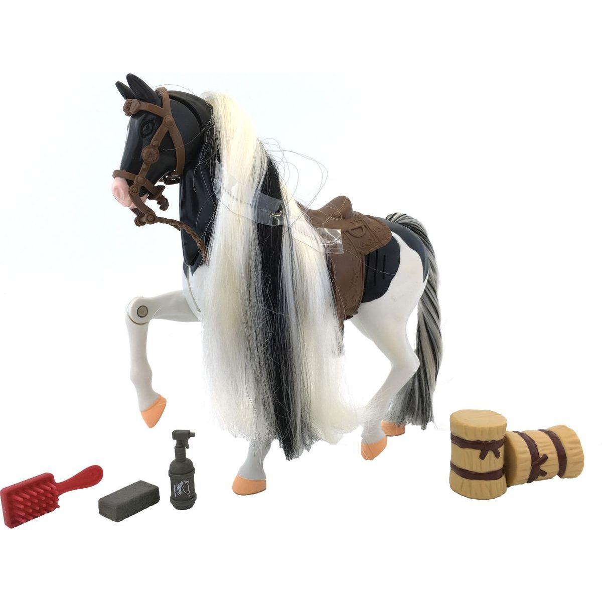 Kůň set 18 cm - Bílo-černý