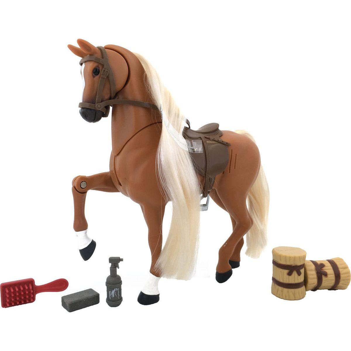 Kůň set 18 cm - Hnědý