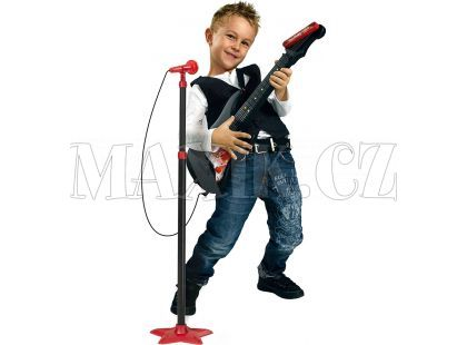 Kytara se stojanovým mikrofonem Simba
