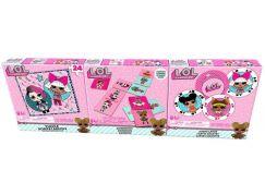 L.O.L. Surprise Trojitá zábava-puzzle, karty, domino