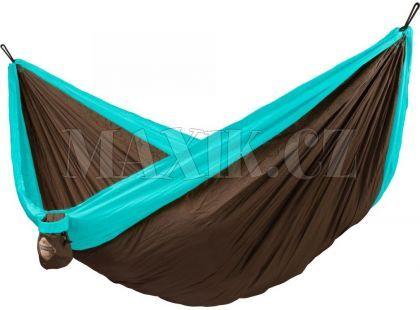 La Siesta Cestovní houpací síť Colibri Double Turquoise