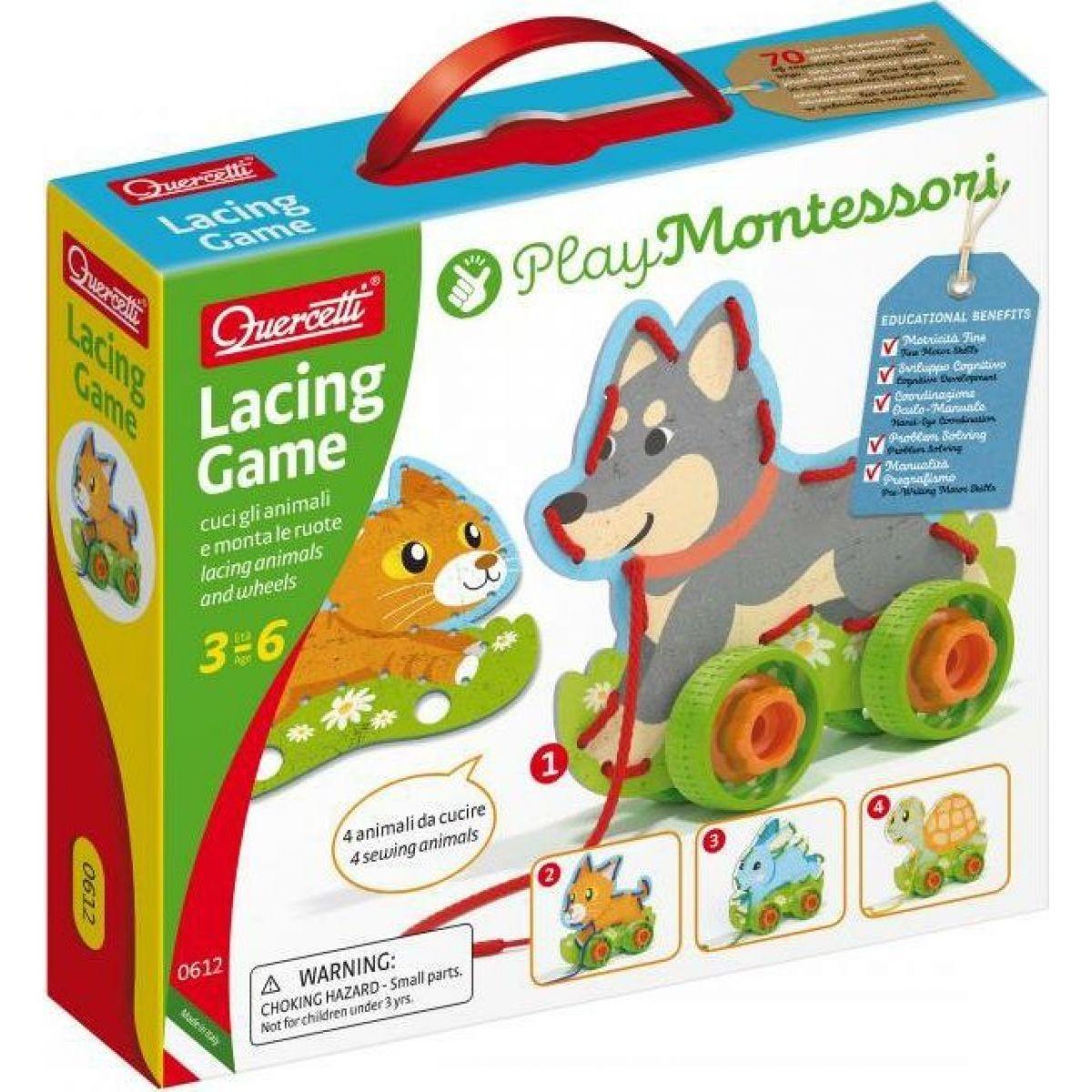 Lacing Game lacing animals & wheels – šněrovací zvířátka s kolečky