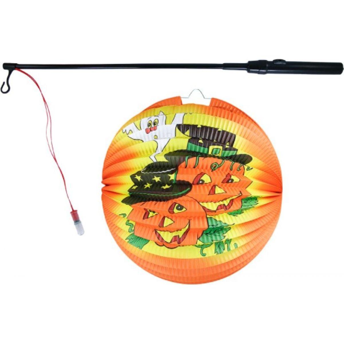 Rappa Lampion Halloween koule Veselé dýně se svítící hůlkou a čajovou svíčkou