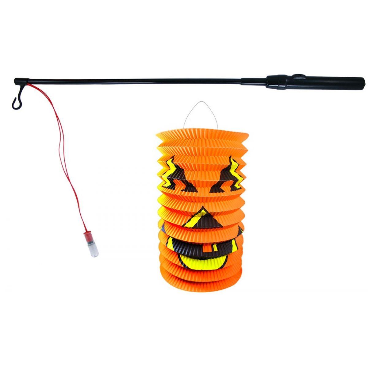 Rappa Lampion Halloween se svítící hůlkou 40cm