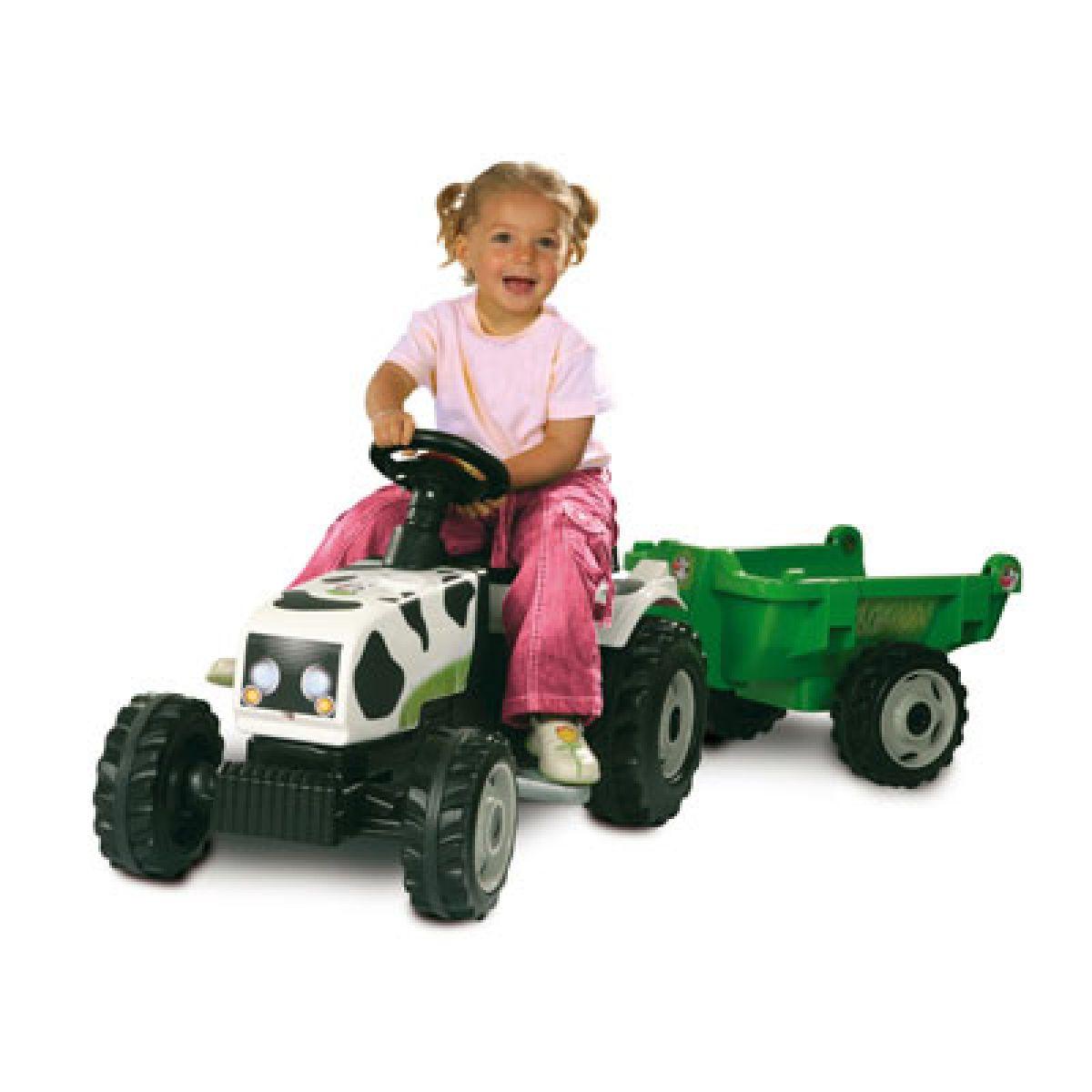 Šlapací traktor Kravička Smoby