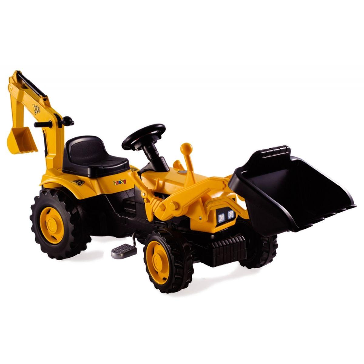 Šlapací traktor se lžící a bagrem Smoby