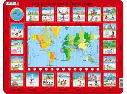 Larsen Puzzle Čas ve světě