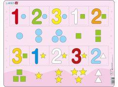 Larsen Puzzle Čísla 1-3 s grafickými znaky