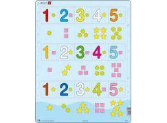 Larsen Puzzle Čísla 1-5 s grafickými znaky