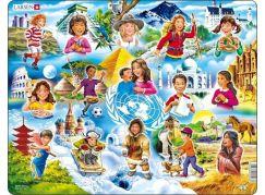Larsen Puzzle Děti ve světě